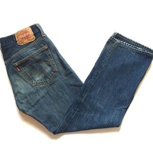 Levi's 501 Jeans Button Fly 32x29 or 32x28 Dark